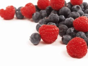 Rasberries and blueberries help moods and give your skin a glow. Check