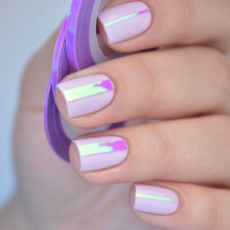 Mermaid candy strip nail art design review, like this type of nails? More details shared in bornprettystore.com