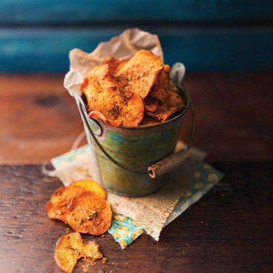 Your Inspiration at Home Peri Peri Baked Sweet Potato Crisps. #YIAH #sweetpotato #crisps #chips #sidedish #periperiseasoning