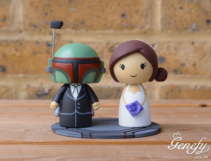 58 best cute star wars wedding cake toppers by genefy playground boba fett with jetpack and bride by genefy playground httpsfacebook wedding cake topperswedding cakesstar wars junglespirit Gallery