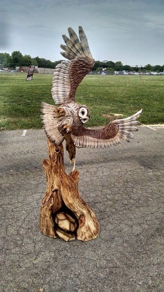 Stunning carving by Jon Vincent at From the Forest Chainsaw Carving