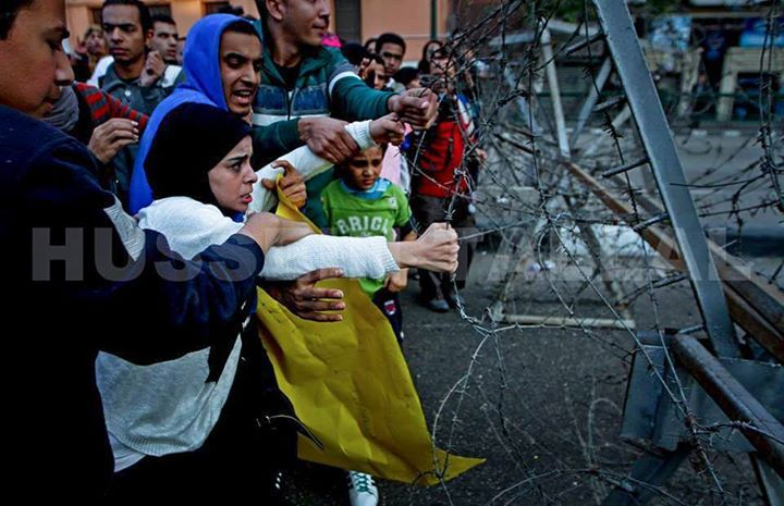 The photo was shot on the borders of Tahrir square after the verdict in Mubarak trial came out innocent, 29.11.2014 - Egypt