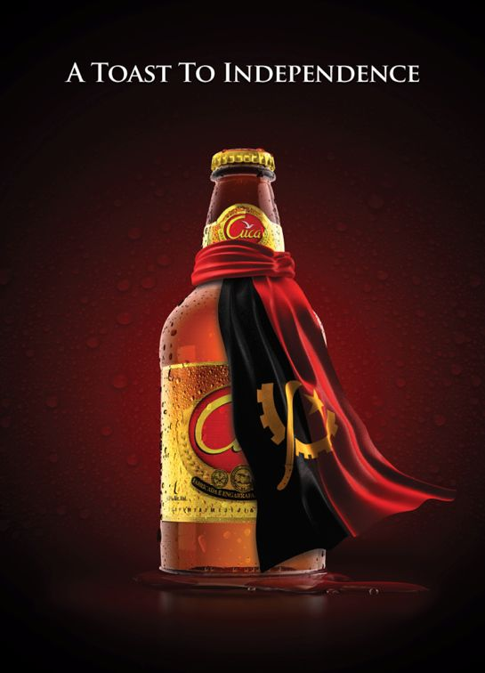 """__A toast to independence__"" Cerveja Cuca Angola, TBWA by Artur Carvalho, via Behance"