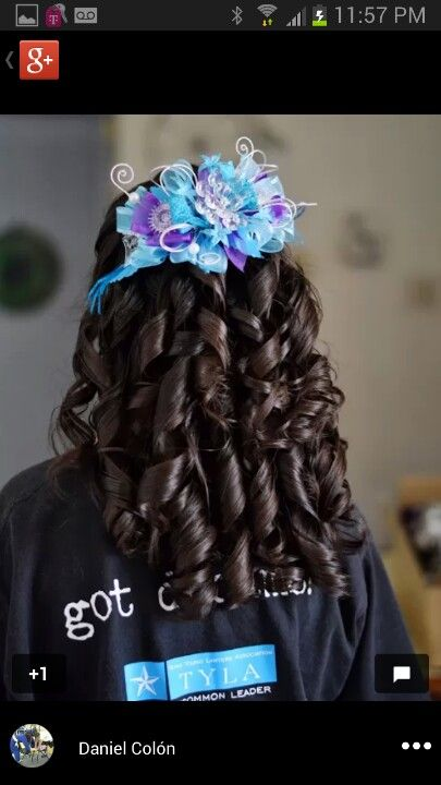 Quinceanera Hairstyles For Long Hair With Curls And Tiara : Quinceanera long hairstyle with curls