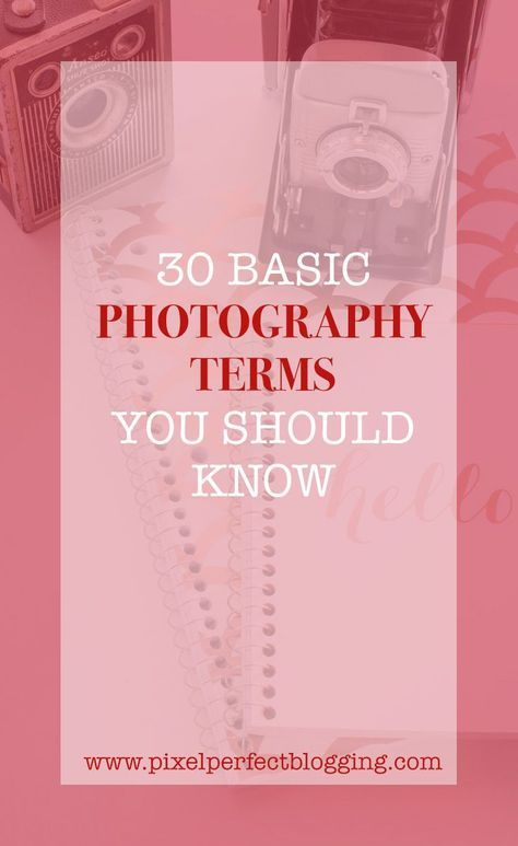 Does photography confuse you? Click here to learn 30 basic photography terms you should know so you can be ahead of the competition. #photographyterms #photographyforbloggers