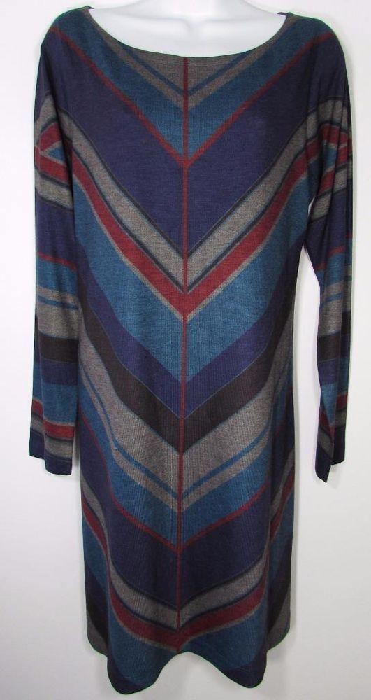 NALLY & MILLIE Casual Sweater Striped Dress  sz XL #NALLYMILLIE #SweaterDress #Casual