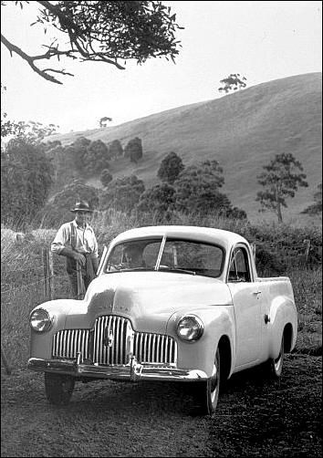 1948-1953 Holden 215 Utility Pick-Up Utility, Features 6 cylinder engine, 3 speed column manual. v@e.