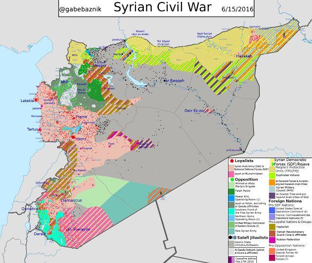 Aktuelle Lage in Syrien - IS verliert langsam Verbindung in die Türkei (15. Juni 2016)
