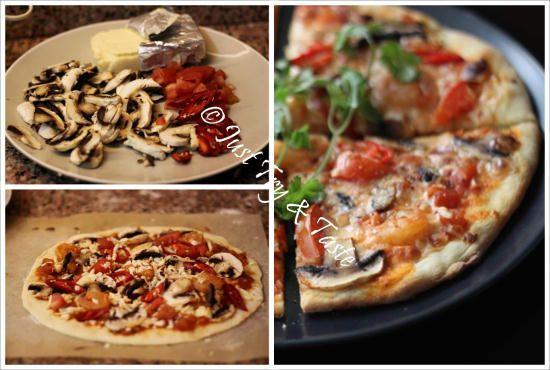 Resep Vegetarian Pizza Jamur dengan Simple Sauce