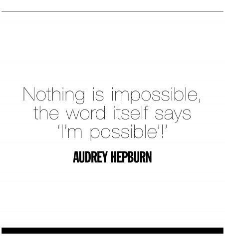 Un mantra inspirant d'Audrey Hepburn