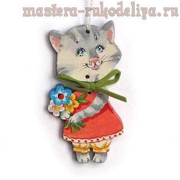 Мастер-класс: Елочные игрушки - Котики и зайчики | Мастер ...