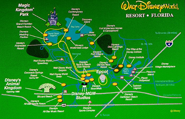 map of hotels at disney | walt disneyworld resort florida