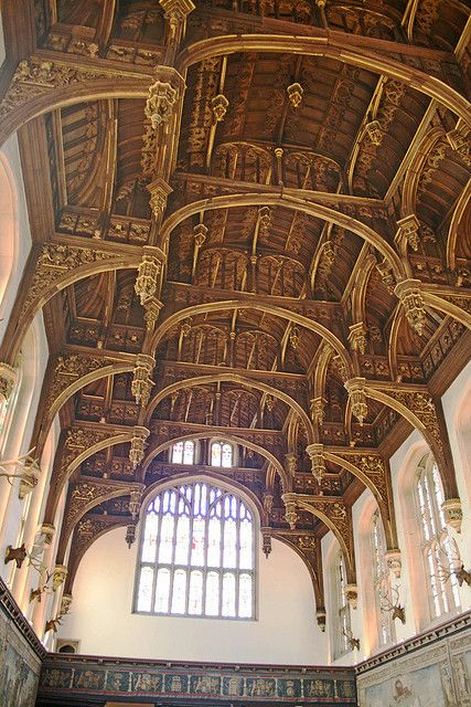 The Great Hall Hampton Court Palace, Middlesex, England by tezzer57 #photography #architecture