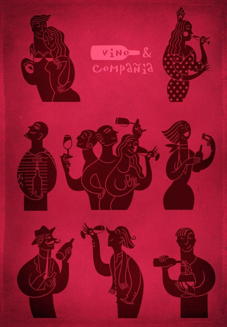 Mostaza Design | Vino & Compañía | Madrid | Wine Shop | Illustrations by David De Ramón | #retaildesign #mostazadesign #wine #shop #vinoycompañia #davidderamon #interiordesign #interiors #graphics #illustration