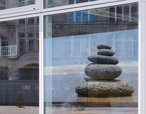 Fensterfolie - Sichtschutz Fenster Sand...