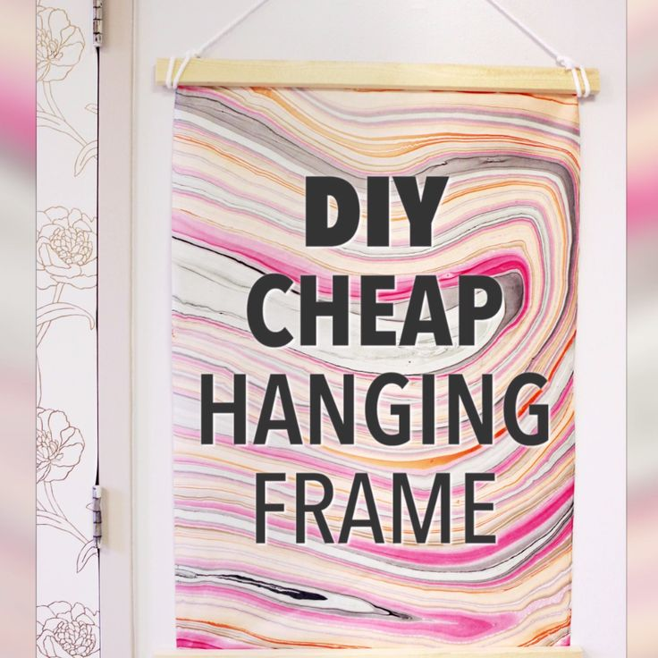 diy cheap hanging frame