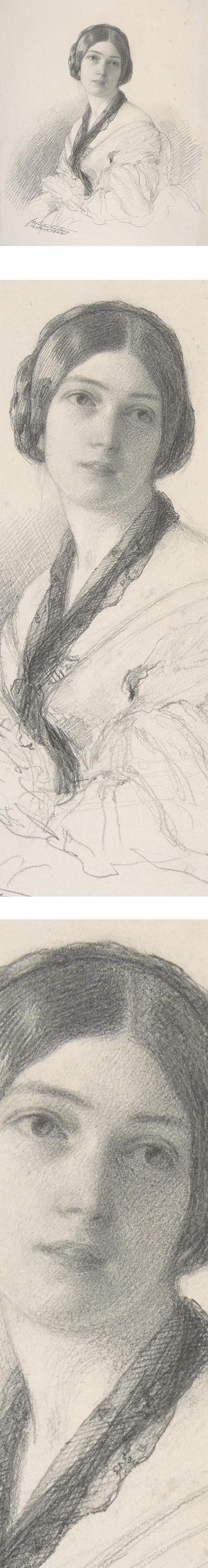 Eye Candy for Today: Franz Xaver Winterhalter pencil portrait