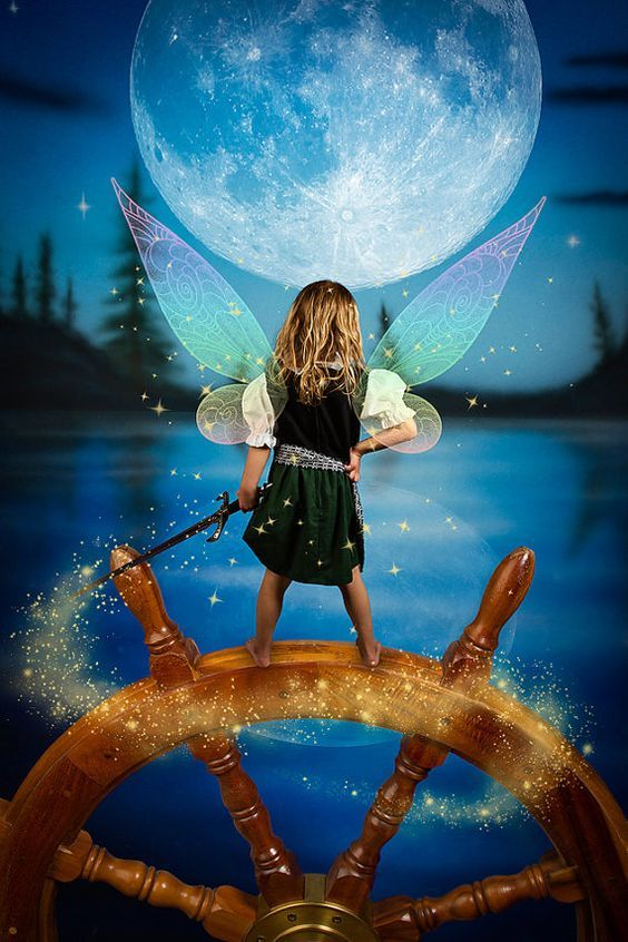 5 Pirate Fairy Fantasy Digital Backgrounds or by Fairy Photography inspired by the Tinker Bell Movie: