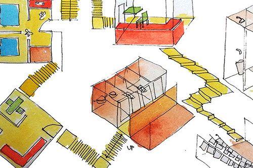 Designing public housing in tight spaces