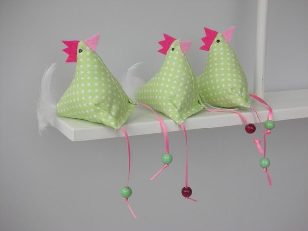 Deko Huhn // decoration chicken via DaWanda.com