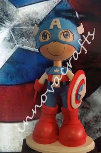 Fofucho Capitán América https://www.facebook.com/fofuchasinnovacrafts/