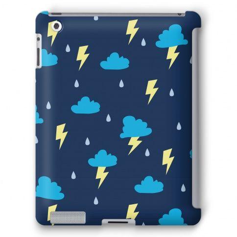 Thunderstorm Pattern #ipad #case #tech #lightning #storm #pattern #cute #design #trendy #rain