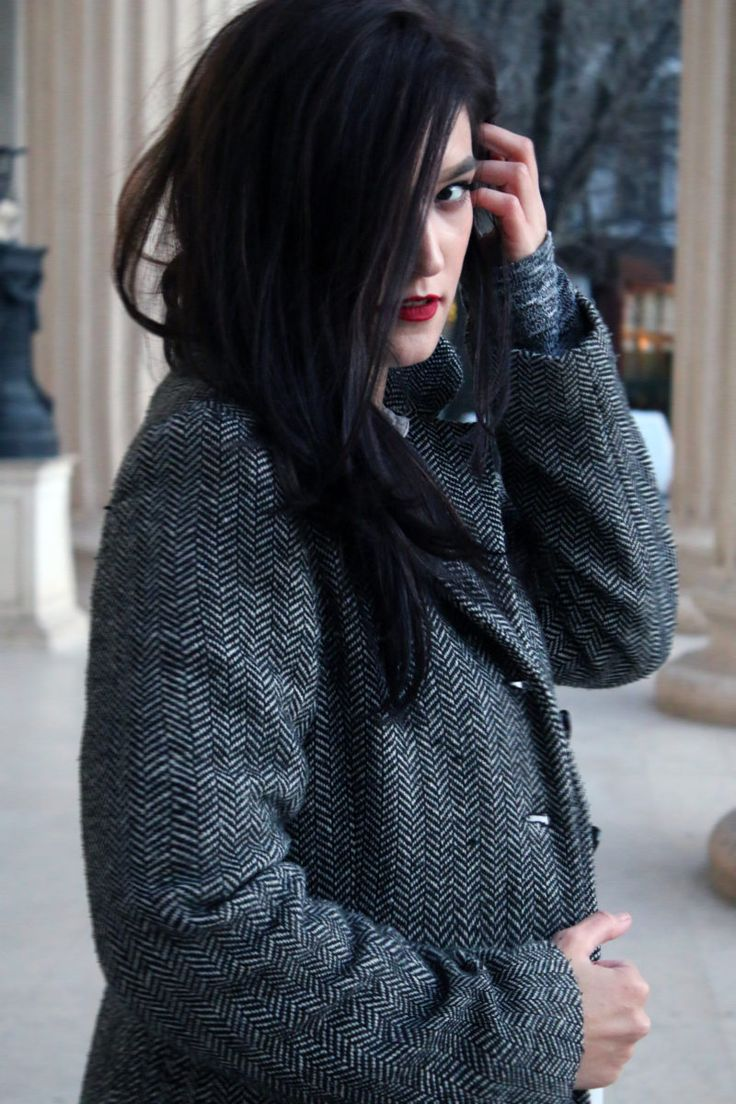 Winter minimalist coat.