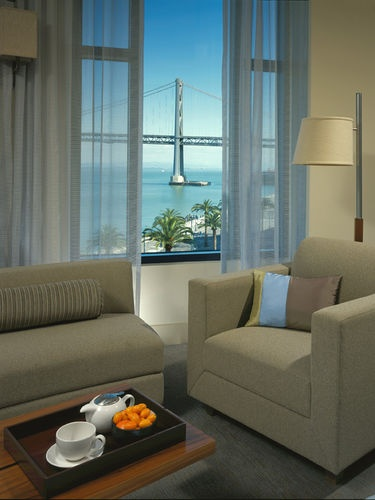 Hotel Vitale San Francisco - The Vitale is the true reflection of the ideal San Francisco experience; water views across the street, the historic Ferry Building with its Farmers Market and gourmet shops, and the multiple modes of transportation from cable cars to old trolley cars to bay ferries to BART right at the hotel's doorstep.