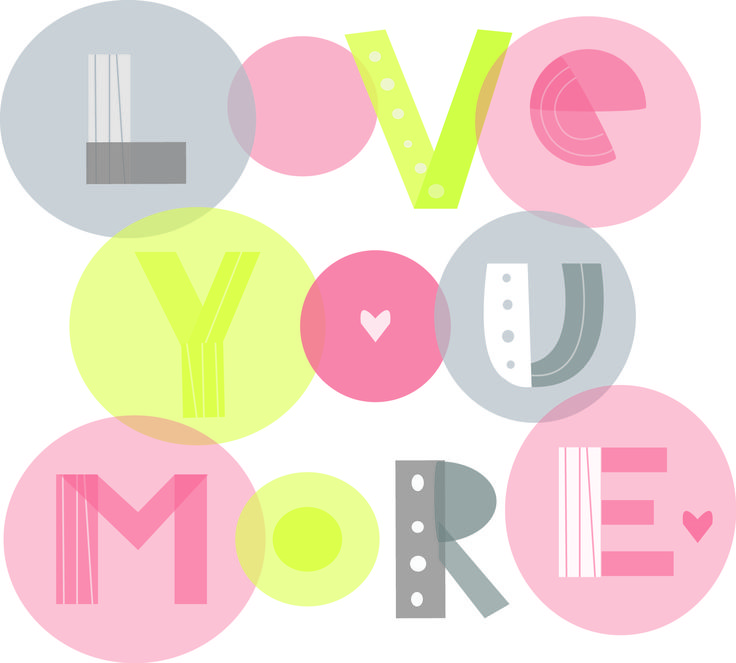 Love you more (vector)