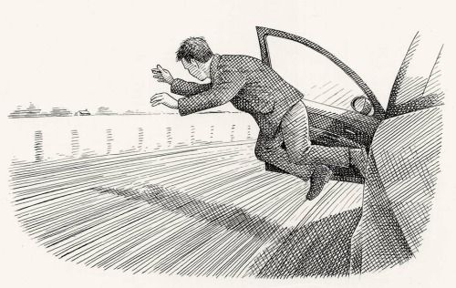 Comment sauter d'une voiture en marche ? Fig.1