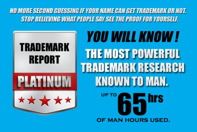 do a trademark search report for brand name tagline business s... by cheaptrademark