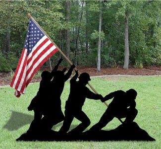 Iwo Jima Yard Shadow Woodcrafting Pattern Honor the courage and bravery of both our Veterans and our active Military with our version of this inspiring event displayed in your yard. #diy #woodcraftpatterns