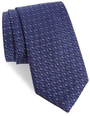 Men's Calibrate Railroad Stripe Silk Tie