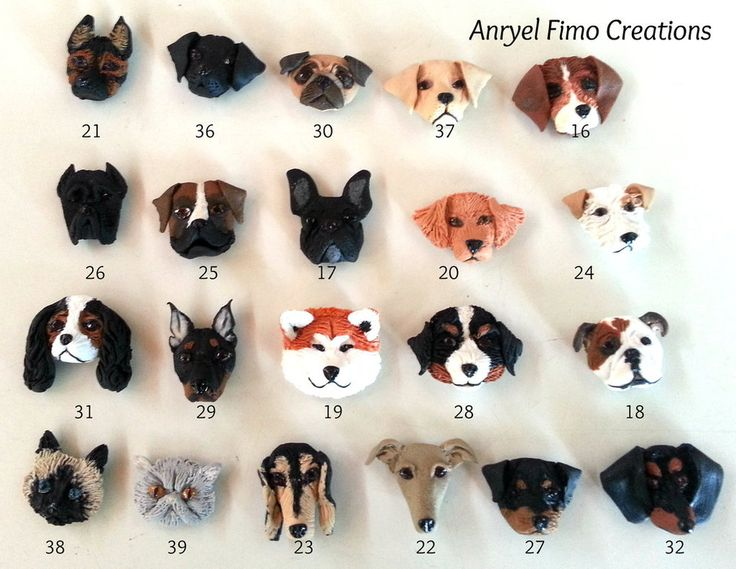 how to make a dog out of modeling clay