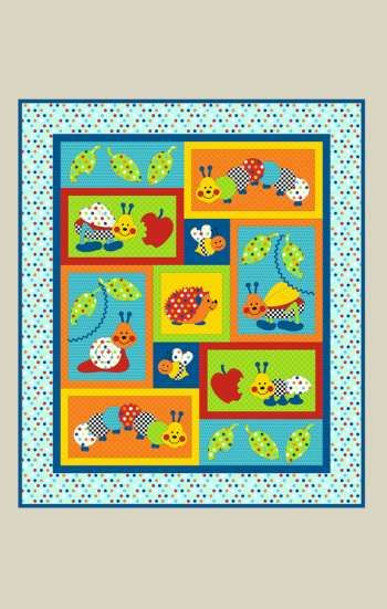 Bugs-a-lot - by Kids Quilts - Patchwork & Quilting Cot Pattern