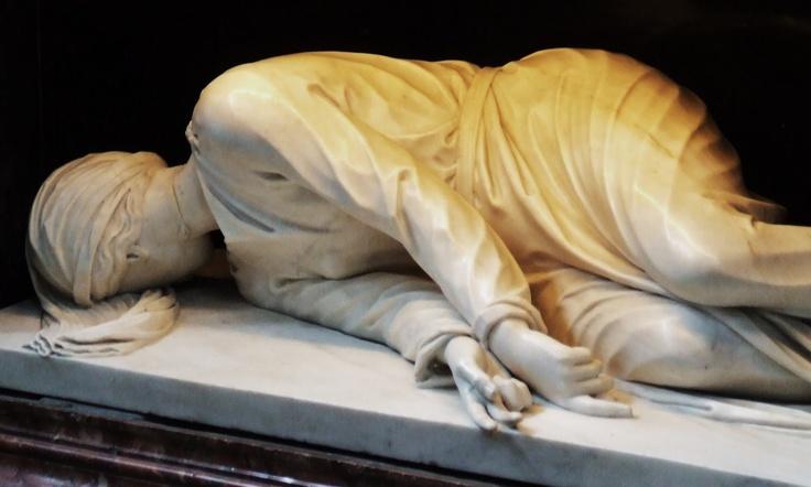 maderno santa cecilia roma detail of hands1599