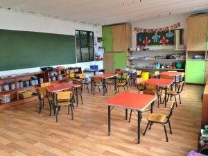 Es una clase en Bogotá, Colombia. La clase es muy bonita.