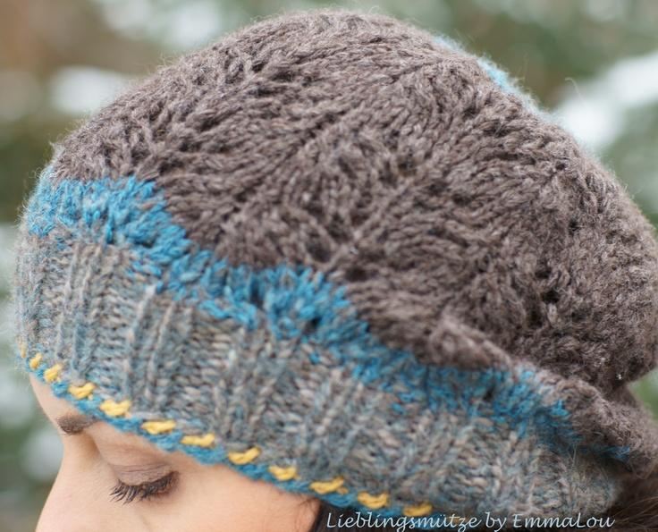 Traumhafte Farbkombi. Handgestricktes Lieblingsbeanie - ein Unikat  aus Merino/Alpaka-Gemisch, die Wolle stammt von Lana Grossa