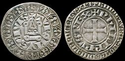 Coins of Knights Templar, France.