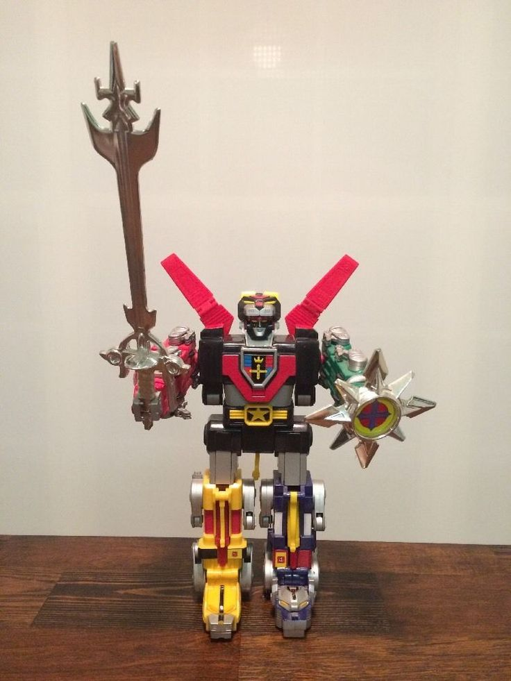 """12"""" Voltron Lion Force Third 3rd Dimension 1998 Trendmasters w/ Shield,Missile…"""