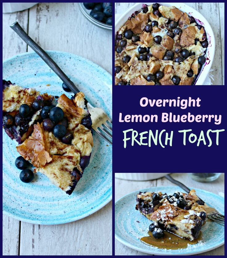 This overnight lemon blueberry french toast can be prepped ahead of time, and popped in the oven the next morning! A crowd-pleaser at all breakfast tables.