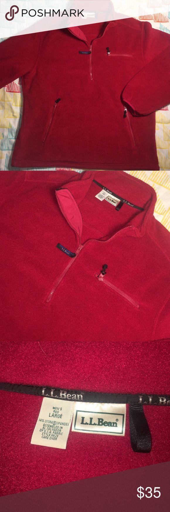 LL Bean Men's Large Pullover Soft Fleece Jacket Size Large - Like new L.L. Bean Jackets & Coats