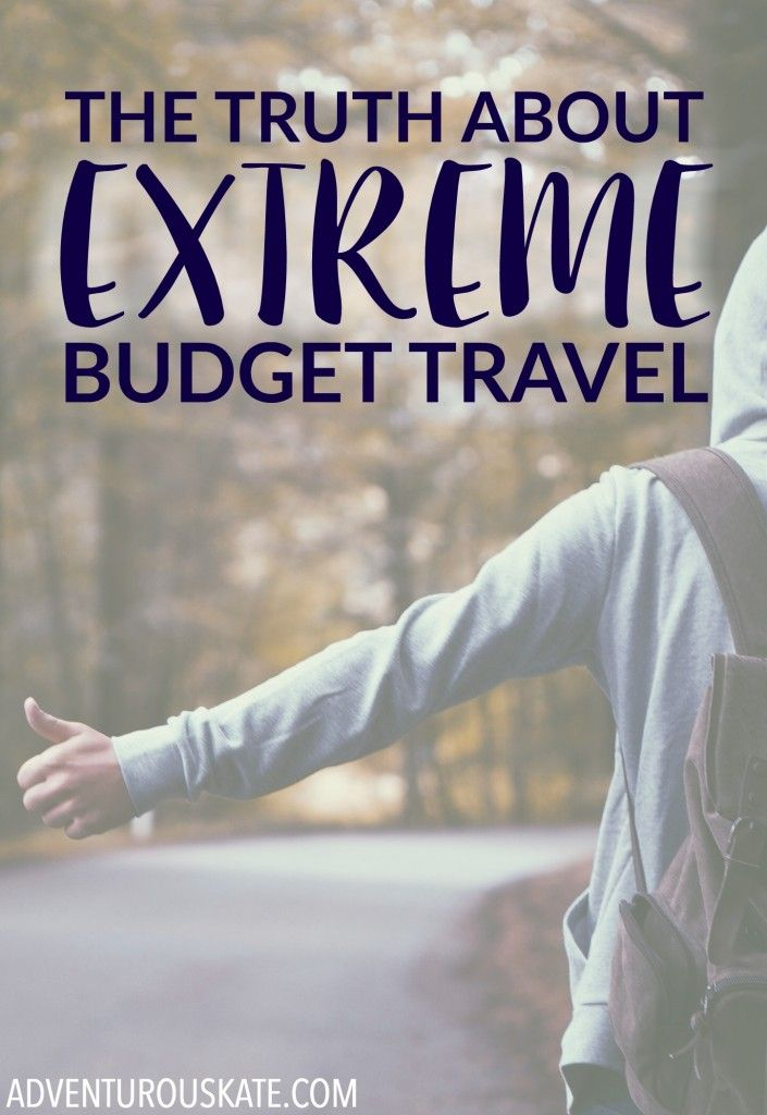 "Budget travel is unique to everyone. The broadest definition of budget travel is being financially conscious during your travels. I define extreme budget travel — or what I like to call traveling ""on the hobo"" — as traveling while spending the least amount of money possible."