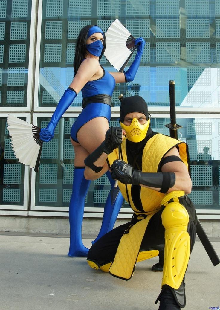 Scorpion and Kitana - Mortal Kombat cosplay by *DANQUISH on deviantART