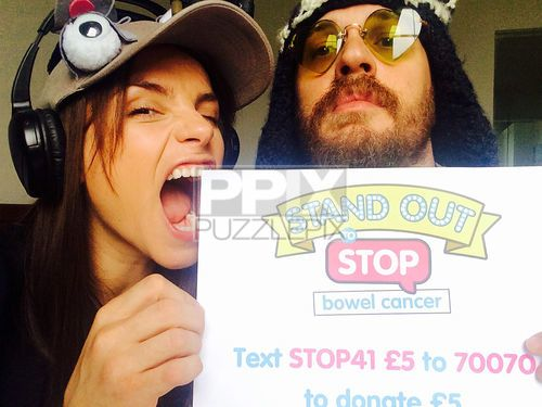 Tom Hardy & Charlotte Riley  supporting Bowel Cancer UK. - June 2015