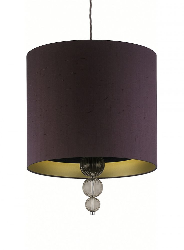Silk pendant ceiling light with silk or