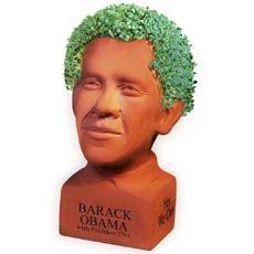 Chia Obama Planter