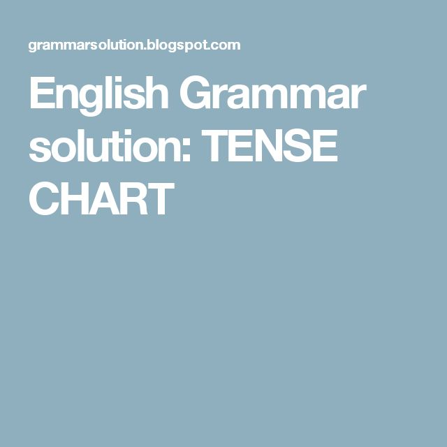 The 25 best tenses chart ideas on pinterest english tenses english grammar solution tense chart ccuart Image collections