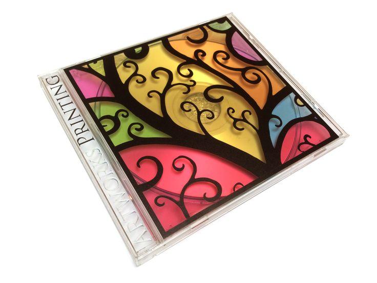 UV printing on CD cases.