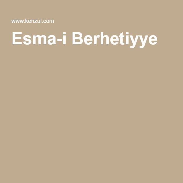 Esma-i Berhetiyye